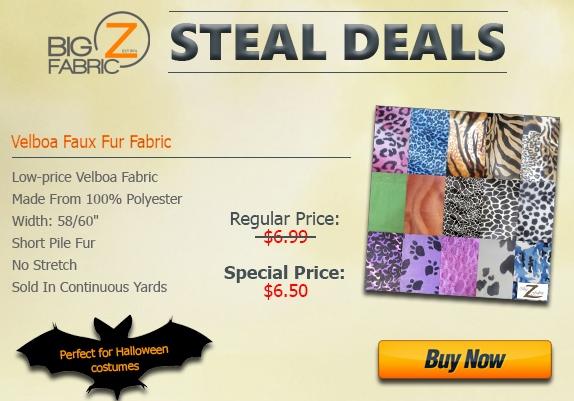 Velboa Faux Fur Fabric Sale