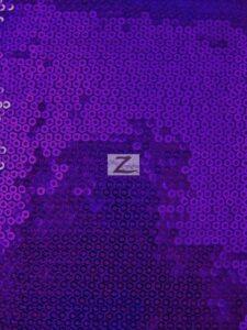 Micro Disc Paillettes Sequin Spandex Fabric Purple