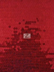 Micro Disc Paillettes Sequin Spandex Fabric Red