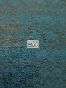 Tropic Sopythana Python Snake Vinyl Fabric Blue
