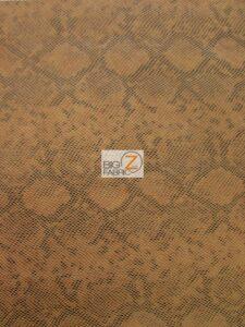 Tropic Sopythana Python Snake Vinyl Fabric Brown