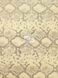 Tropic Sopythana Python Snake Vinyl Fabric Cream