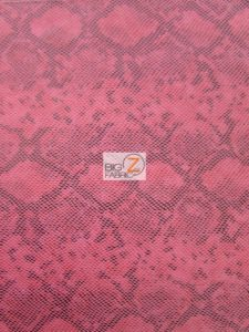 Tropic Sopythana Python Snake Vinyl Fabric Fuchsia