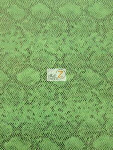Tropic Sopythana Python Snake Vinyl Fabric Green