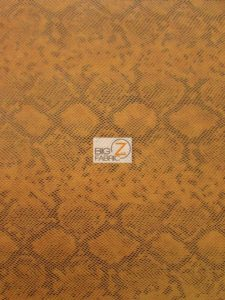 Tropic Sopythana Python Snake Vinyl Fabric Orange
