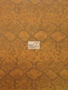 Tropic Sopythana Python Snake Vinyl Fabric Orange
