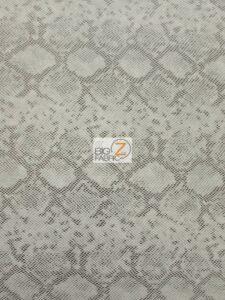 Tropic Sopythana Python Snake Vinyl Fabric Silver