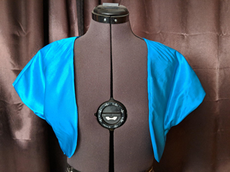 Easy Sewing Project: Simple Satin Bolero Jacket
