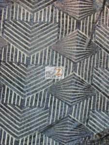 Cosmic Mini Disc Geometric Sequin Mesh Fabric Navy