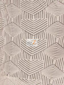 Cosmic Mini Disc Geometric Sequin Mesh Fabric White