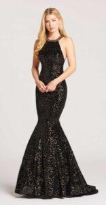 Velvet Sequins Gown