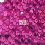 Rain Drop Sequin Stretch Velvet Fabric Fuchsia