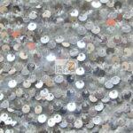 Rain Drop Sequin Stretch Velvet Fabric Silver