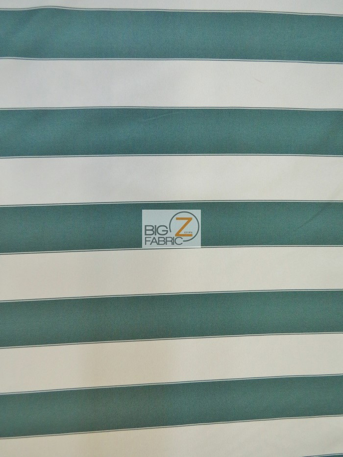 2 Tone Stripe Deck Canvas Outdoor Waterproof Fabric Hunter Green