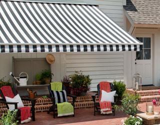 Stripe Waterproof Outdoor Awning