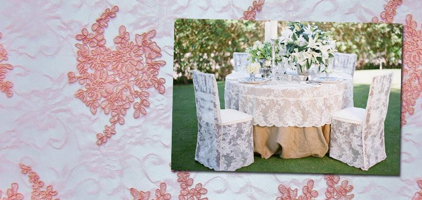 Lace Fabric Wedding Reception Decor