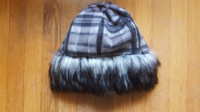 diy fur hat finished product