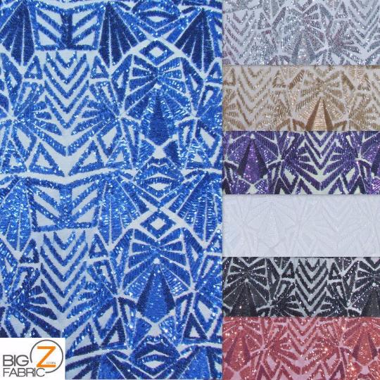 geometric sequins collage