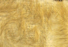 wolf faux fur fabric