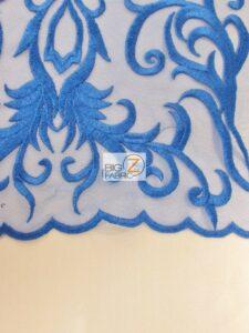 Palazzo Damask Mesh Lace Fabric