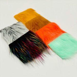 6 shaggy faux fur color samples