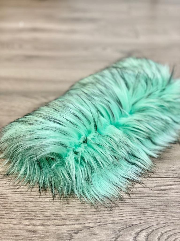 mint arctic faux fur