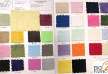 color card fabric swatch