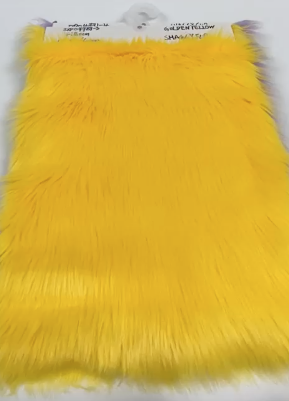 yellow fabric swatch