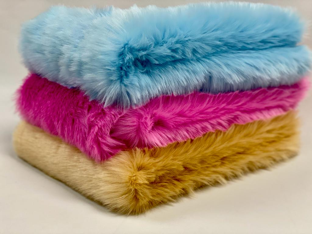 stack of 3 faux fur
