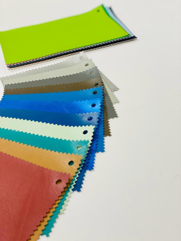 solid vinyl fabric samples